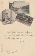 Japan Postcard Tokyo Coloured Scene 1898 - Unclassified