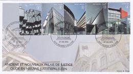 Enveloppe FDC 4160 à 4164 Anciens Et Nouveaux Palais De Justice Braine-l'Alleud - 2011-...