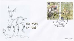 Enveloppe FDC 4180 4181 La Forêt Het Woud Faon Geai Des Chênes Hamme - 2011-...