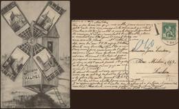 Carte Postale - Souvenir De Malines (moulin) - Malines