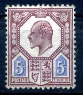 1902 GRAN BRETAGNA N.113 * - Unused Stamps