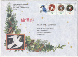USA 1996 1998 Michel Nr. 2753, 3055, 3056, 3058, Wreath Greetings 32 Cents, Yv 2354, 2817, 2818, 2820 - Cartas