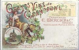 EPERNAY, CHAMPAGNE MERCIER, (carte Usé, Plie En Bas Coin Gauche) - Werbepostkarten