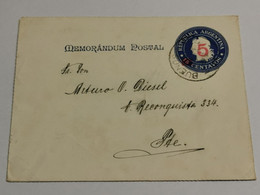 Mémorandum Postal, Oblitéré Buenos Aires 1903 - Cartas