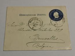 Mémorandum Postal, Oblitéré Buenos Aires 1901 Envoyé à Bruxelles - Cartas