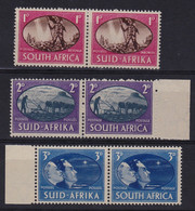 SOUTH AFRICA 3 December 1945 VICTORY STAMPS 3 Pairs 1d,2d,3d MNH - Autres