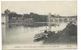 46 - CAHORS - Vue Sur Le Pont Neuf Et La Cathédrale, Prise Du Moulin Coty - CPA - Cahors