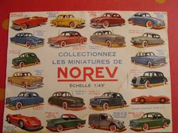 Buvard Norev. Jouets Miniatures. Automobile Voiture. Catalogue Des 20 Premières Voitures. Vers 1960 - N