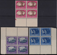 SOUTH AFRICA 3 December 1945 VICTORY STAMPS Blocks Of 4 Stamps 1d,2d,3d MNH - Autres