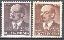 Poland 1952- Polish-Soviet Friendship - W.I. Lenin - Mi.781-82 MNH(**) - Ongebruikt