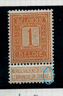 N° 108 Chiffre   (*)  V3  Coin Ouvert - Plaatfouten (Catalogus OCB)