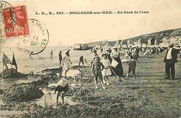 62 - Boulogne Sur Mer - Au Bord De L'eau - Animé - CPA - Voir Scans Recto-Verso - Boulogne Sur Mer