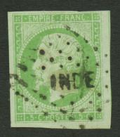 INDE : COLONIES GENERALES 5c EMPIRE (n°8) Obl. Losange INDE. Petite Fente En Bas à Gauche. Aspect Superbe. Utilisation T - Non Classés