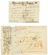 ARMEE DU NORD : 1795 & An 8 Lot De 2 Lettres Avec Bau Gal ARM. DU NORD. B/TB. - Army Postmarks (before 1900)