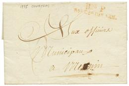 """An 3 Don F Bau Cal DES ARM. Sur Lettre Avec Texte Daté """"COURTRAI"""" Pour MENIN. Rare. TB. - Army Postmarks (before 1900)"""