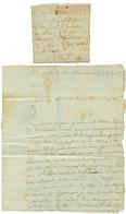 An 9 Et An 10 Lot De 2 Lettres Avec Texte (GOUDA & AMSTERDAM) Cachet HOLLANDE TROUPES Faises En Rouge . TTB. - Army Postmarks (before 1900)