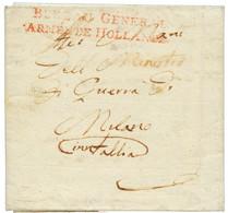 1806 BUREAU GENERAL / ARMEE DE HOLLANDE Sur Lettre Avec Texte Pour MILANO (ITALIE). TB. - Army Postmarks (before 1900)