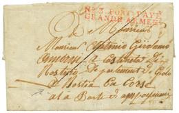 """""""Soldat CORSE Dans La GRANDE ARMEE"""" : 1807 N°3 PORT-PAYE GRANDE ARMEE Sur Lettre écrite En Italien Datée """"ELBENGEN"""" Pour - Army Postmarks (before 1900)"""
