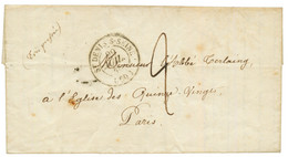"""PRISONNIER - REVOLUTION De 1848 : 1848 ST DENIS-S-SEINE + Taxe 2 Sur Lettre D'un Prisonnier Daté """"FORT De L' EST, CASEMA - Army Postmarks (before 1900)"""
