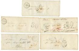 GUERRE DE CRIMEE : 1855 Lot 5 Lettres ARMEE D' ORIENT Dont 2eme CORPS Et QUARTIER Gle (x2). TB. - Army Postmarks (before 1900)