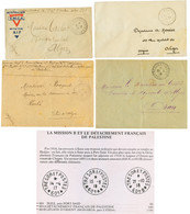 PALESTINE - ARMEE D' ORIENT : 1917/18 4 Lettres Avec TP 600, 601-A, 601-B. TB. - Army Postmarks (before 1900)
