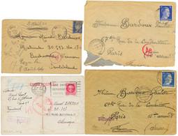 CAMP De CONCENTRATION - BUCHENWALD : 1943/44 Lot De 4 Lettres De Ou Pour Le CAMP De BUCHENWALD. B/TB. - Army Postmarks (before 1900)