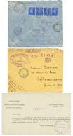 FRANCE LIBRE - Collection De 18 Lettres + Un Document De La FRANCE LIBRE Dans Les COLONIES FRANCAISES. TTB. - Army Postmarks (before 1900)