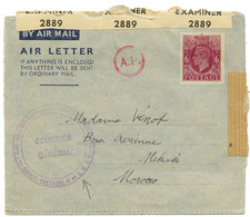 GRANDE BRETAGNE AIR LETTER 6d Avec Texte Et Cachet COMMANDEMENT DES FORCES FRANCAISES EN GRANDE BRETAGNE Et En URSS / CO - Army Postmarks (before 1900)