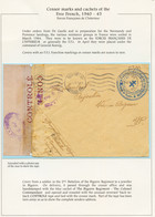 CENSURE FFI : 1945 FORCE FRANCAISES DE L' INTERIEUR REGIMENT DE BIGORE Sur Enveloppe De ROCHEFORT Avec Bande CENSURE Pou - Army Postmarks (before 1900)
