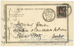 """""""HANKEOU"""" : 1901 10c Obl. HANKEOU CHINE (type Rare) Sur Carte Pour L' ALLEMAGNE. Superbe. - Non Classés"""