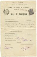 """AVIS DE RECEPTION"" : 1901 10c Obl. LIBREVILLE Sur AVIS DE RECEPTION Pour PORTO-NOVO. Verso, COTONOU DAHOMEY. Rare. TTB. - Non Classés"