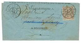 1906 15c Obl. CAP LOPEZ GABON Sur TELEGRAMME De IGUILA Pour TLEMCEN (ALGERIE). RARE. TTB. - Non Classés