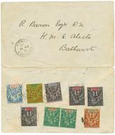 """""""RECEIVED GAMBIA"""" : 1898 GUINEE 1c (x3) + 2c + 5c (x2) + 10c + 15c + 20c Obl. Cachet Anglais RECEIVED GAMBIA à L' Arrivé - Non Classés"""