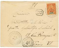 """""""KISSIDOUGOU"""" 1904 40c Obl. Cachet (type Spécial) KISSIDOUGOU GUINEE FRANCAISE Sur Enveloppe RECOMMANDEE Pour PARIS. RAR - Non Classés"""