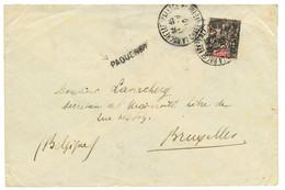 GUINEE : 1910 25c Obl. LA ROCHELLE PALLICE CHARENTE INFre + PAQUEBOT Sur Env. Pour La BELGIQUE. RARE. TTB. - Non Classés