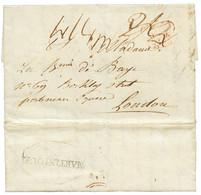MARTINIQUE - BRITISH PACKET AGENT : 1813 Cachet Rare MARTINIQUE Encadré Apposé Par L' Agent Postal ANGLAIS Sur Lettre De - Non Classés