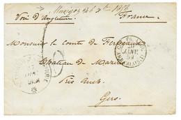 """MARIGOT"" : 1858 Marque Manuscrite ""MARIGOT 26 Xbre 1858"" + Taxe 6 Sur Env. Pour La FRANCE. RARE. TTB. - Non Classés"