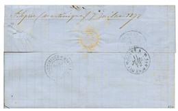 """Marque Manuscrite ST ESPRIT"" : 1872 CG Paire 5c EMPIRE (1 Ex. Pd) + 40c CERES Obl. MQE + MARTINIQUE PETIT-BOURG + Verso - Non Classés"