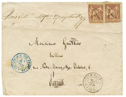 """TRINITE Manuscrit"" : 1877 CG 20c SAGE (x2) Déf. Obl. Plume + ""TRINITE MQE 27 Septemebre 77"" Manuscrit + Cachet Rare MAR - Non Classés"