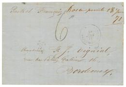 """""""BASSE POINTE Manuscrit"""" : 1871 """"BASSE POINTE 18 Juin 71"""" Manuscrit + Cachet Rare MARTINIQUE AJOUPA-(BOUILLON) Sur Lettr - Non Classés"""