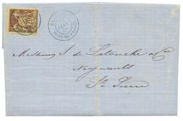 1880 CG 20c SAGE TTB Margé Obl. MARTINIQUE FORT DE FRANCE Sur Lettre Avec Texte Pour ST PIERRE. TTB. - Non Classés