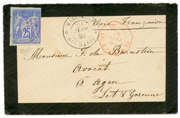 """""""STE MARIE"""" : 1880 CG 25c SAGE Obl. MARTINIQUE STE MARIE Sur Enveloppe Pour La FRANCE. RARE. TB. - Non Classés"""