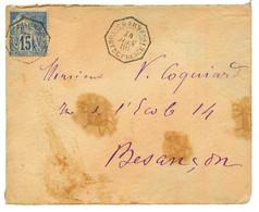 1886 CG 15c Obl. C. D'ARMEES FORT DE FRANCE Pour La FRANCE. Verso, CORR. D'ARMEES LIG. B. RARE. TB. - Non Classés