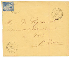 """""""GRAND ANSE"""" : 1892 CG 15c Obl. MARTINIQUE LA GRAND'ANSE Sur Env. Pour ST PIERRE. Bureau RARE. TTB. - Non Classés"""