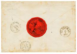 "DANISH WEST INDIES : 1857 ""8"" Tax Marking On Envelope From MARTINIQUE To ""GOUVERNEUR De STE CROIX"". Verso, British Cds M - Danemark (Antilles)"