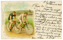 DWI To JAMAICA : 1900 3c Canc. ST THOMAS On Card (cycling ) To JAMAICA Redirected To BARBADOS And GRENADA. Superb. - Danemark (Antilles)