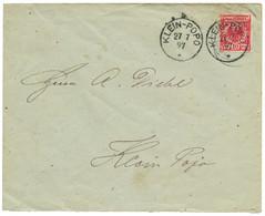 TOGO - VORLAUFER : 1897 GERMANY 10pf Canc. KLEIN-POPO On Envelope To KLEIN-POPO. Local Mail. Vf. - Colonia: Togo