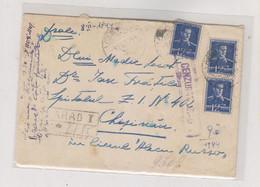ROMANIA WW II ARAD 1944 Censored Registered Cover - 2. Weltkrieg (Briefe)