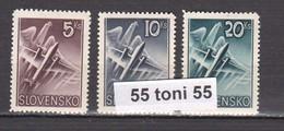 1940 Airmail  (Airplanes) Mi-76/78 3v.-MNH    Slovaquie / SLOVAKIA - Nuevos