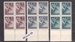 1940 Airmail  (Airplanes) Mi-76/78 3v.-MNH  Blocks Of 4  Slovaquie / SLOVAKIA - Nuevos